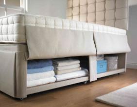 hypnos hideaway storage, hypnos divan storage, hypnos storage, storage bed, storage divan, comes in a range of sizes and colours